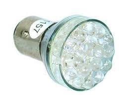 ketofa one pair 1157 white 24 led light 2 bulbs ba15d