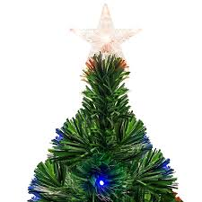 7ft Fiber Optic Artificial Christmas Pine Tree W 280 Lights Stand