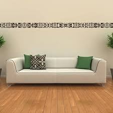 malango wandtattoo bordüre sonne wandaufkleber wanddesign wohnzimmer schlafzimmer wand aufkleber design ca 274 x 18 cm gold