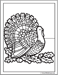 20 Of Thanksgiving Coloring Pages This Is A Gorgeous Day Turkey With Oak