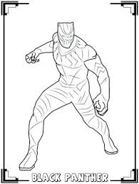 Black Panther Coloring Pages Page Pink Colouring
