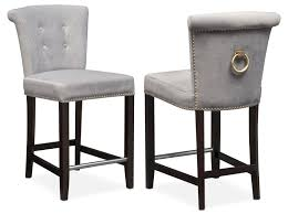 Counter Height Chairs With Backs by Calloway Counter Height Stool Gray Gold American Signature