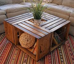 DIY Rustic Coffee Crate Table Crates Purchased From Michaels Mounted On Large Piece