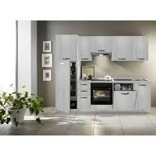 küchenzeile 255 cm eiche weiß