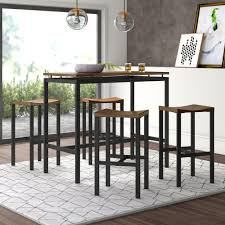 Mercury Row Mcgonigal 5 Piece Pub Table Set & Reviews | Wayfair Jofran Marin County Merlot 5piece Counter Height Table Mercury Row Mcgonigal 5 Piece Pub Set Reviews Wayfair Crown Mark Camelia Espresso And Stool Red Barrel Studio Jinie Amazoncom Luckyermore Ding Kitchen Giantex Pieces Wood 4 Stools Modern Inspiring And Chairs Target Tables For Dimeions Style Sets Design With Round Wooden Bar Best Choice Products W Glass Dinette Frasesdenquistacom Hartwell Peterborough Surplus Fniture No Clutter For The