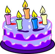 Cake Candles Birthday Purple Icing Five Ha