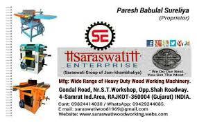 saraswati enterprise in rajkot manufacture wood working machinery