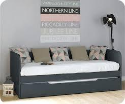 lit transformé en canapé lit transforme en canape gigogne bali gris anthracite 80 200 cm