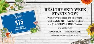 Kiehl's Canada Offer: FREE $15 Coupon Code With Every $40 ...