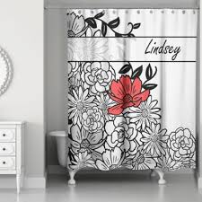 Black And White Flower Shower Curtain by Buy Flowers Curtains From Bed Bath U0026 Beyond