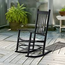 Details About Porch Rocking Chair - Outdoor Patio Wooden Rocking Chair -  Black