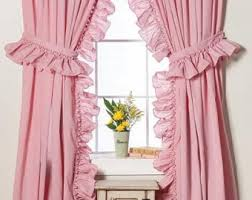 Purple Waterfall Ruffle Curtains by Ruffled Curtain Etsy