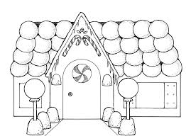 Download Coloring Pages Gingerbread House Page Imgimg To