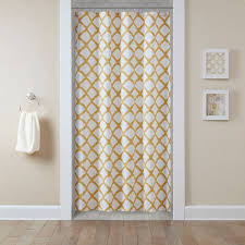 Yellow And White Curtains Target by Shower Curtains Shower Curtain Tracks Bed Bath U0026 Beyond