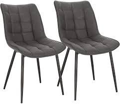 woltu esszimmerstühle bh247dgr 2 2er set küchenstuhl polsterstuhl wohnzimmerstuhl sessel mit rückenlehne sitzfläche aus stoffbezug metallbeine