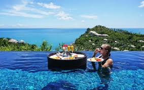 100 W Hotel Koh Samui Thailand Forget Breakfast In Bed Now You Can Have A Floating Breakfast