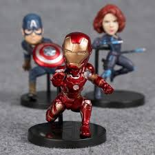 Age Of Ultron Mini Figures Set Hulk Black Widow Vision Iron Man Captain America