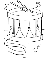 Easy Coloring Pages Free Printable Toy Drum Featuring Pre K And Primary