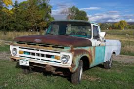 1961 Ford F100 UNIBODY Long Bed WITH BUMPERS GOOD GLASS 1961 1963 ...