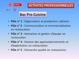 bac pro cuisine bac pro cuisine et csr ppt télécharger