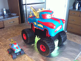 Tormentor (aka Monster Truck Mater) Birthday Cake Made For My 4 Year ...