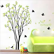 My Lime Orange Tree Wall Art Mural Decal Sticker Green With Fruits Wallpaper Living Room Bedroom Decor Poster