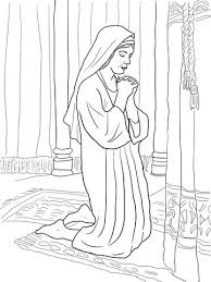 Hannah Prays For A Son Coloring Page From Prophet Samuel Category Select 22059 Printable