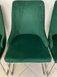 top angebot 4 x vintage esszimmerstühle grün samt polsterstühle