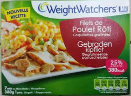 plat cuisiné weight watchers filets de poulet rôti coquillettes gratinées 2 5 mg surgelé