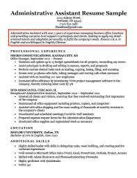 Administrative Assistant Resume Objective Example