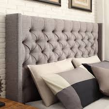Wayfair Upholstered Headboards King by Weston Home Yarmouth Wingback Upholstered Low Profile Bed Hayneedle