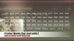 4 Letter Words That Start With Z YouTube