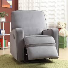 100 Reclining Rocking Chair Nursery Gray Rocker Recliner For Baby Swivel Rocker Glider