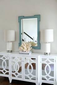 Buffet Mirror White Mirrored Over Dining Room
