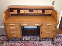 1917 Quarter sawn Oak Roll Top Desk Score on Portland Craigslist