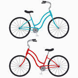 Two Bicycles Stock Illustrations