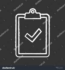 Clipboard Check Mark Chalk Icon Test Stock Vector (Royalty Free ...