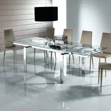 Glass Dining Table Modern Expandable With Metal Legs For Popular Room Ideas