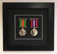 Medal Frame 3D Box Display For 2X World War Military Single Black