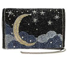 Pumpkin Moon Medallion Id by Mary Frances Accessories Designer Embellished Handbags
