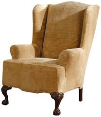 Chair Slip Cover Pattern by Decorating Antique Wing Chair With Stretch Slipcover Exquisite