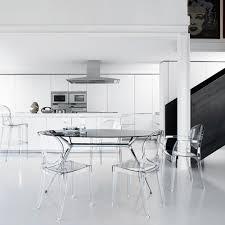 transparenter modernes design stühle für küche esszimmer bar restaurant scab igloo