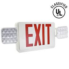 ul listed led emergency exit sign light torchstar