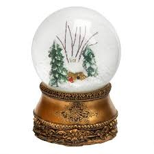 silver wind up music snow globe christmas tree shops andthat