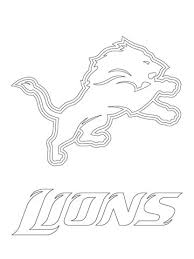 Click To See Printable Version Of Detroit Lions Logo Coloring Page