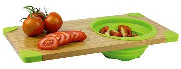 planche cuisine planche à découper en bambou avec passoire silicone vivre mieux