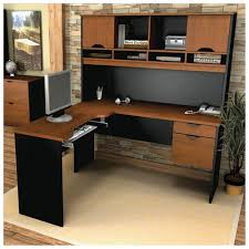Sauder L Shaped Desk by Furniture Executive L Shaped Desk With Hutch In Black And Brown