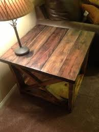 first ever project the rustic x side table living room tutorials