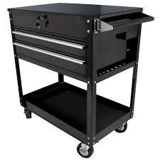 Sunex SUN8050BK Black 2 Drawer Service Cart