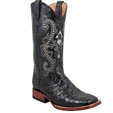 Ferrini Mens Black Anteater Print Boot in Western Boots at